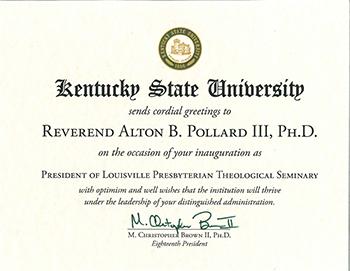 Proclamation-Kentucky State University