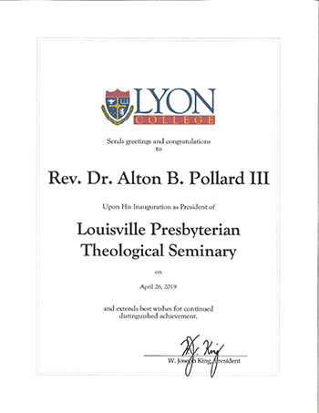 Proclamation-Lyon College