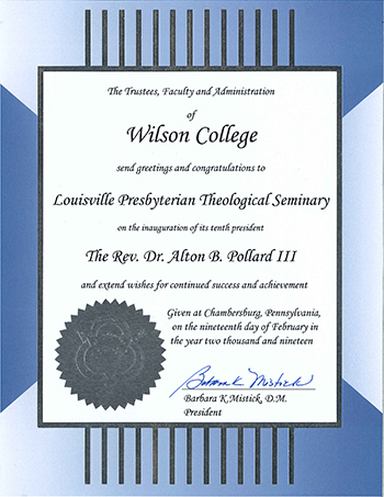 Proclamation-Wilson College