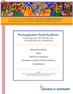 Thank You Dinner Program Cover
