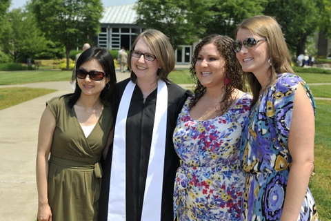 Four female graduates of Louisville Seminary