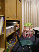 Corner of the play therapy room