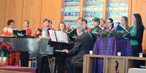 The choir singing